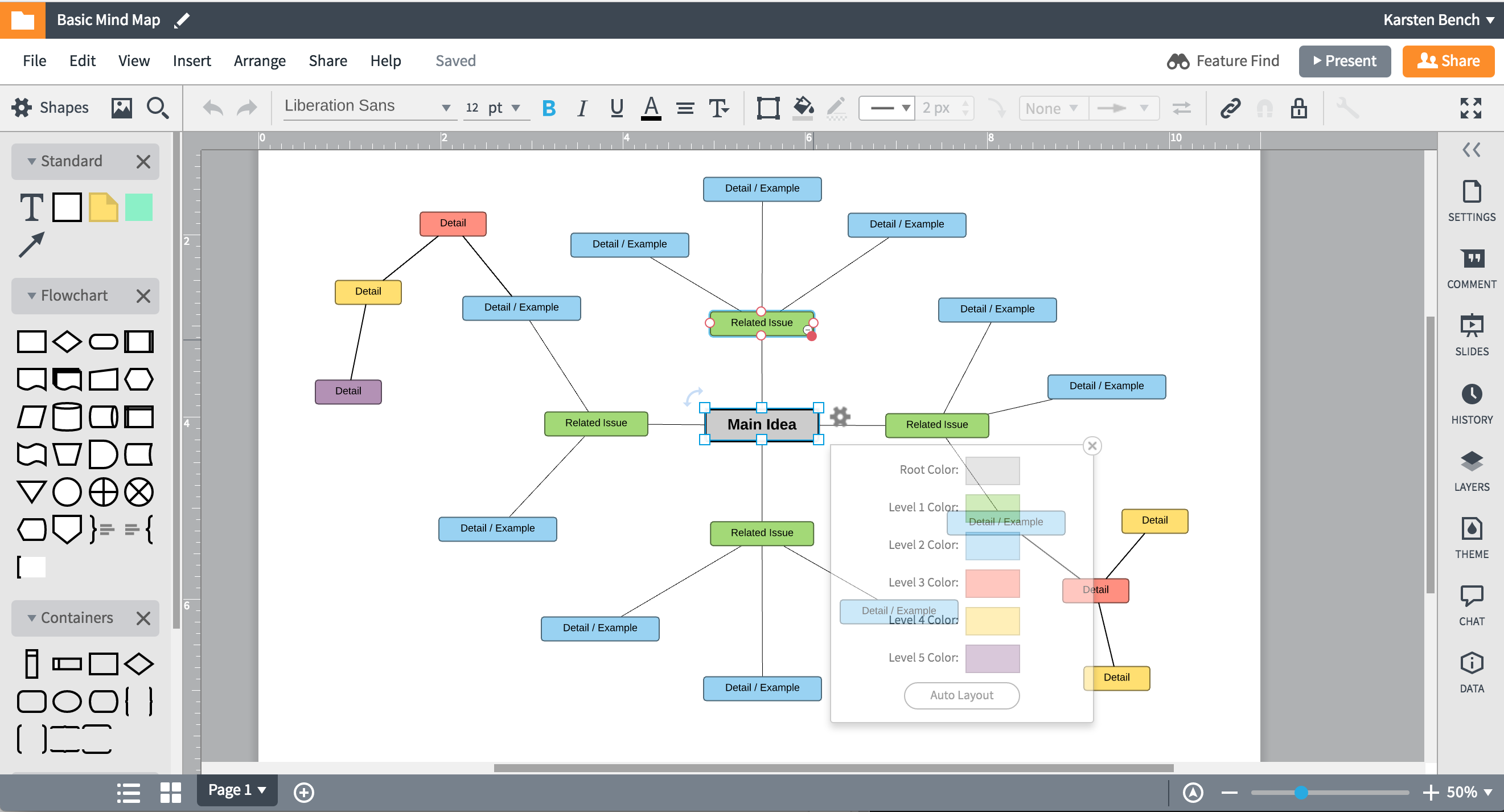 Mind mapping lucidchart mind map example in lucidchart ccuart Gallery