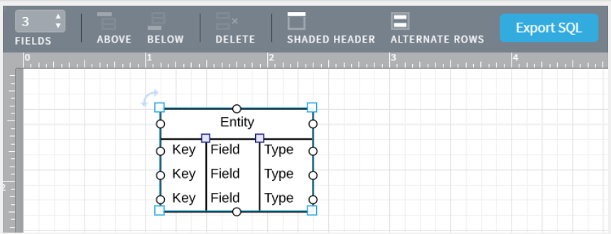 Lucidchart ERDs add or remove fields