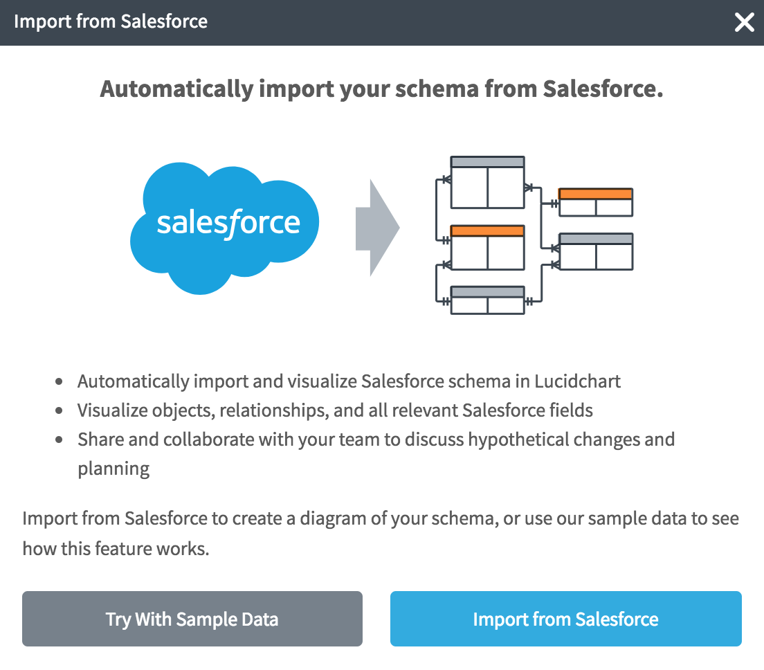 Salesforce schema import step 3